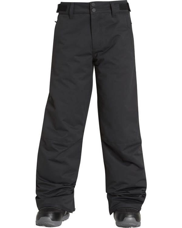 0 Boys' Grom Outerwear Pants Black BSNPQGRO Billabong