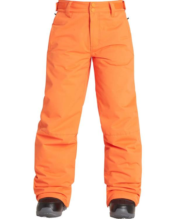 0 Boys' Grom Outerwear Pants Orange BSNPQGRO Billabong