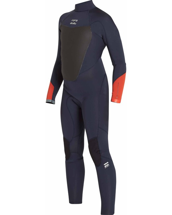 0 Boys' 4/3 Absolute Comp Back Zip Fullsuit Blue BWFULAB4 Billabong