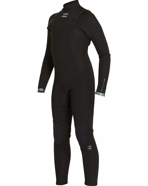 0 Boys' 4/3 Absolute Comp Chest Zip Fullsuit Black BWFULAC4 Billabong