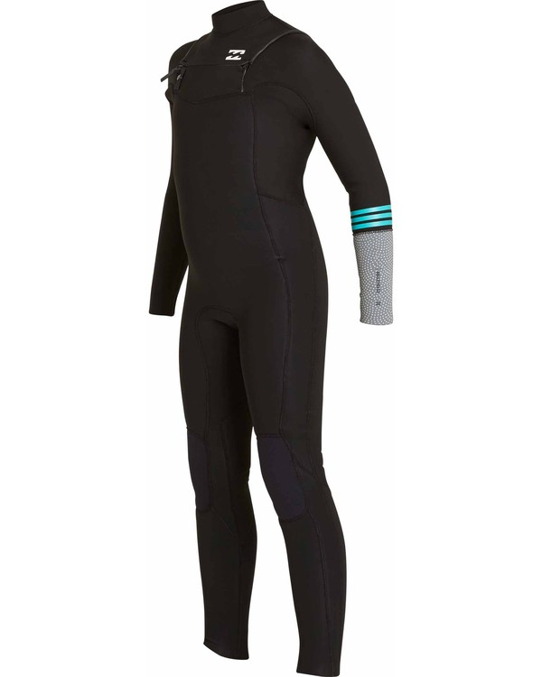 0 Boys' 4/3 Revolution Tribong Chest Zip Fullsuit Black BWFULRC4 Billabong