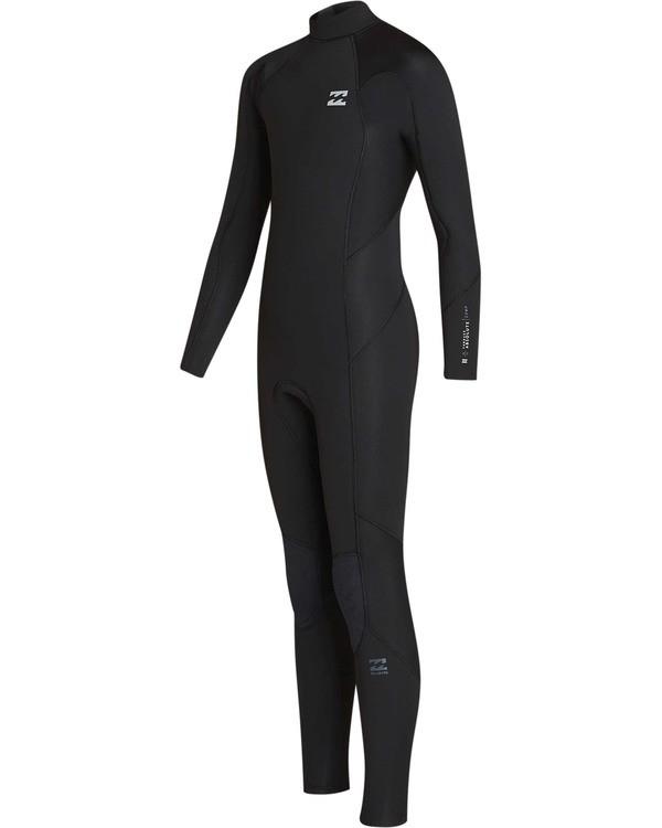 0 Boys' 4/3 Furnace Absolute Back Zip GBS Long Sleeve Fullsuit Black BWFUTBA4 Billabong