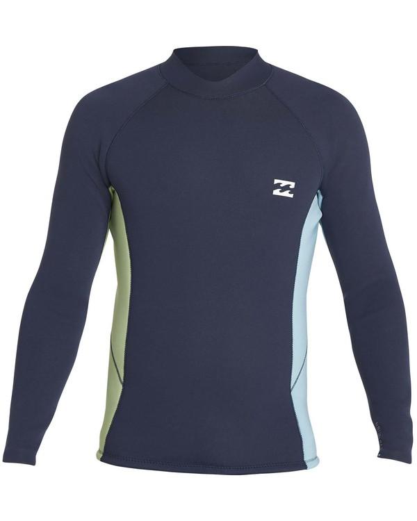 0 Boys' 2mm Revolution Interchange Reversible Wetsuit Jacket Grey BWSHNBT2 Billabong