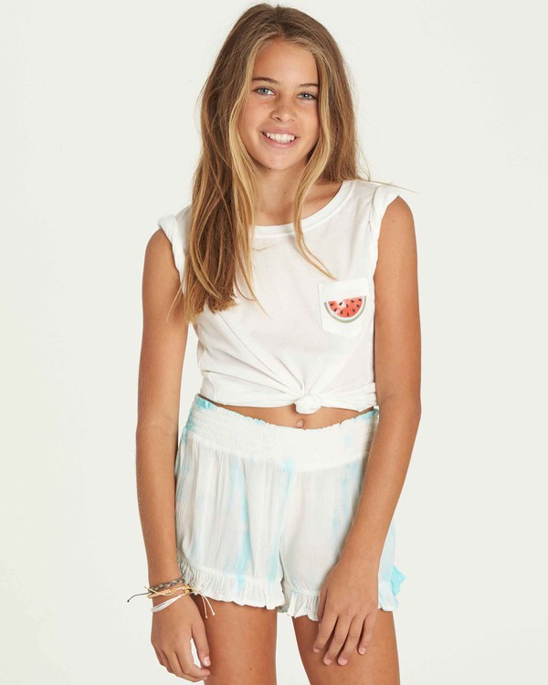 0 Girls' Wild Wave Shorts  G204PBWI Billabong