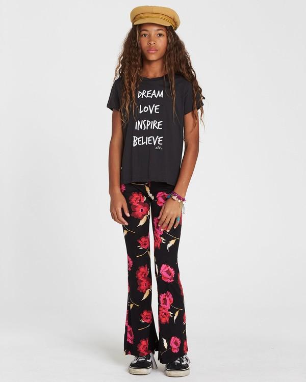 0 Girls' Tell Me Flare Pant Black G301PBTE Billabong