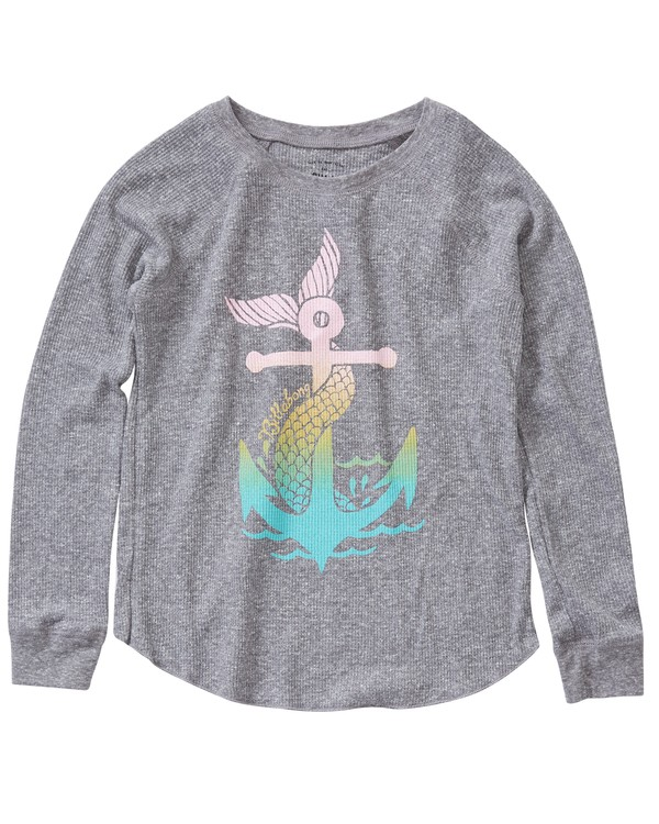 0 Girls' Anchored To The Sea Top Grey G413LANC Billabong