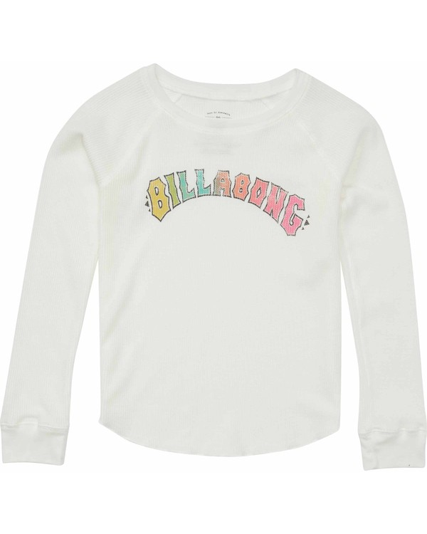 0 Girls' Wild Child Long Sleeve Tee White G413MWIL Billabong