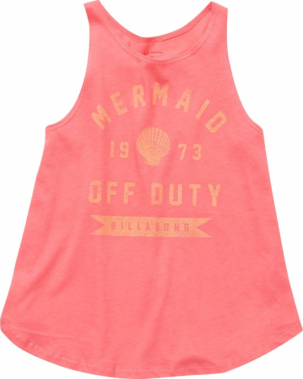 0 Girls' Off Duty Mermaid Tank Red G414NBOF Billabong