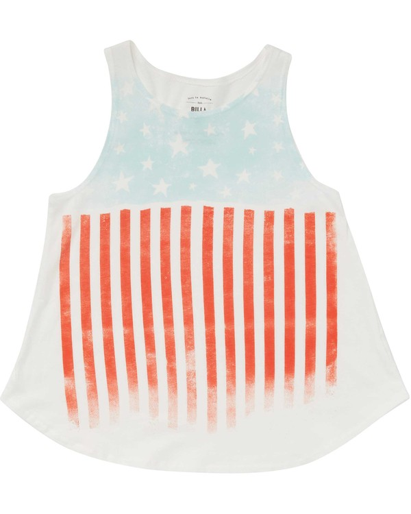 0 Girls' Starry Flag Tank Beige G414PBST Billabong