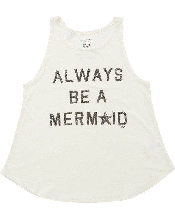 0 Girls' Be A Mermaid Tank Beige G414QBBE Billabong