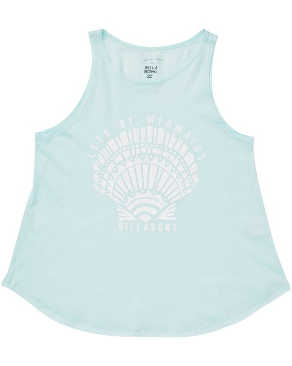 0 Girls' Lets Be Mermaids Tank Top  G414TBLE Billabong