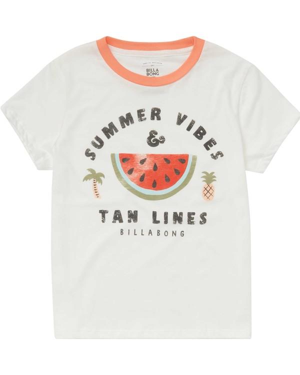 0 Girls' Summer Vibes Tee Beige G416PBSU Billabong