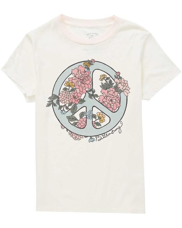 0 Girls' Peace Fleur Tee  G416QBPE Billabong
