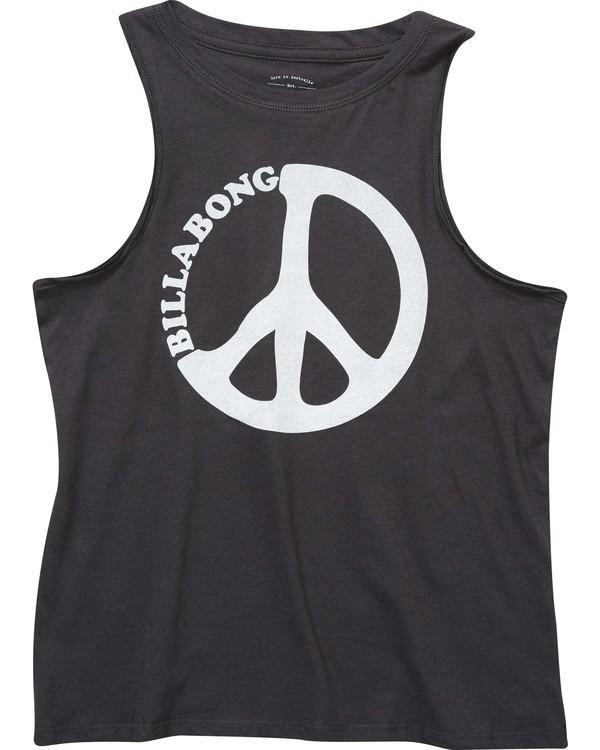0 Girls' Peace And Waves Tank Black G417NBPE Billabong