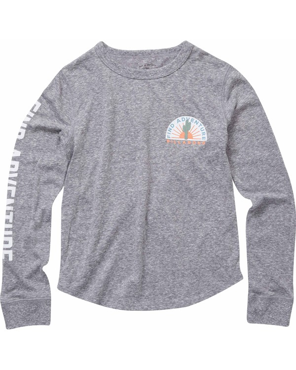 0 Girls' Finding Adventure Long Sleeve Tee Grey G420NBFI Billabong
