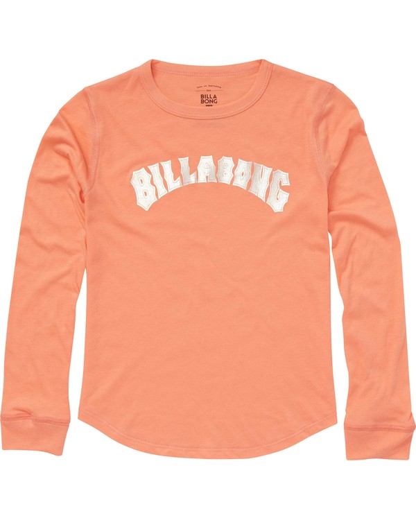 0 Girls' Heritage Long Sleeve Tee Pink G420PBHE Billabong