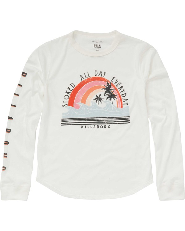 0 Girls' Stoked All Day Long Sleeve Tee  G420PBST Billabong
