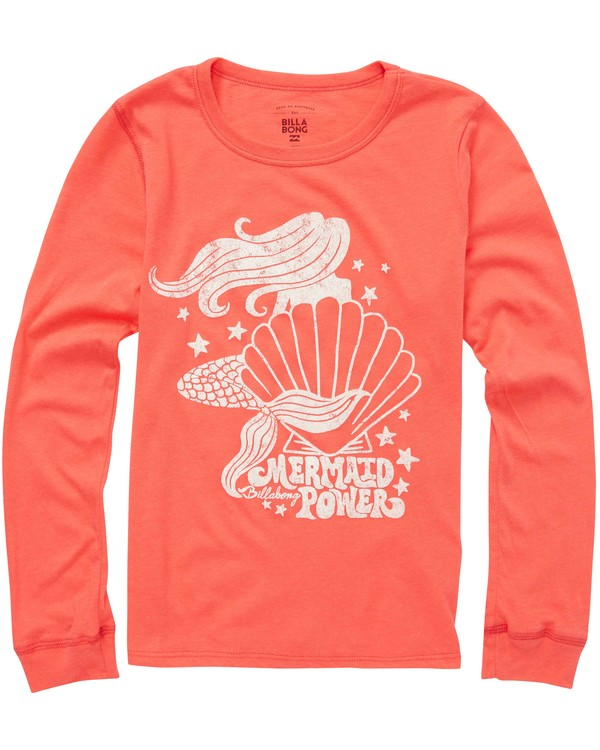 0 Girls' Shell Power Long Sleeve Tee  G420QBSH Billabong
