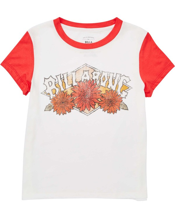 0 Girls' Wild Bloom Tee Red G422TBWI Billabong