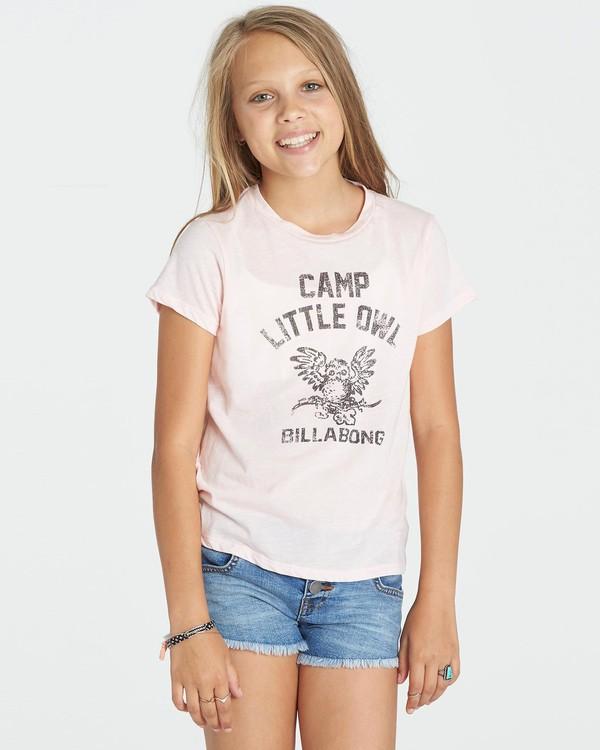 0 Girls' Little Owl Tee Grey G484KLIT Billabong