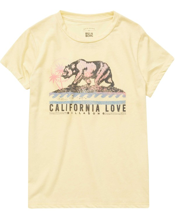 0 Girls' Cali Bear Love Tee  G484NBCA Billabong