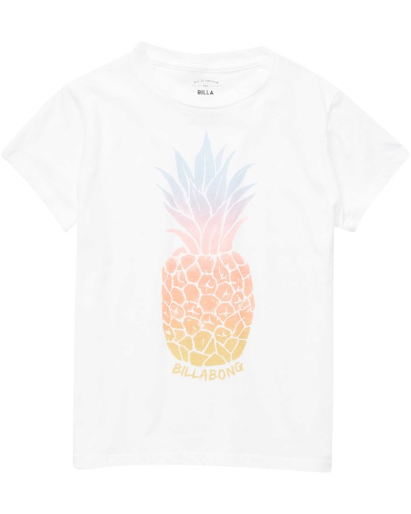 0 Girls' Colorful Pineapple Tee Beige G484NBCO Billabong