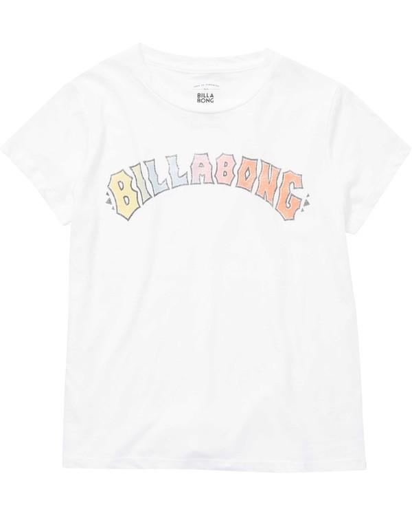 0 Girls' Logo Spirit Tee Beige G484NBLO Billabong