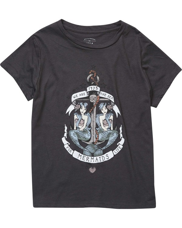 0 Girls' We Are Mermaids Tee Black G484NBWE Billabong