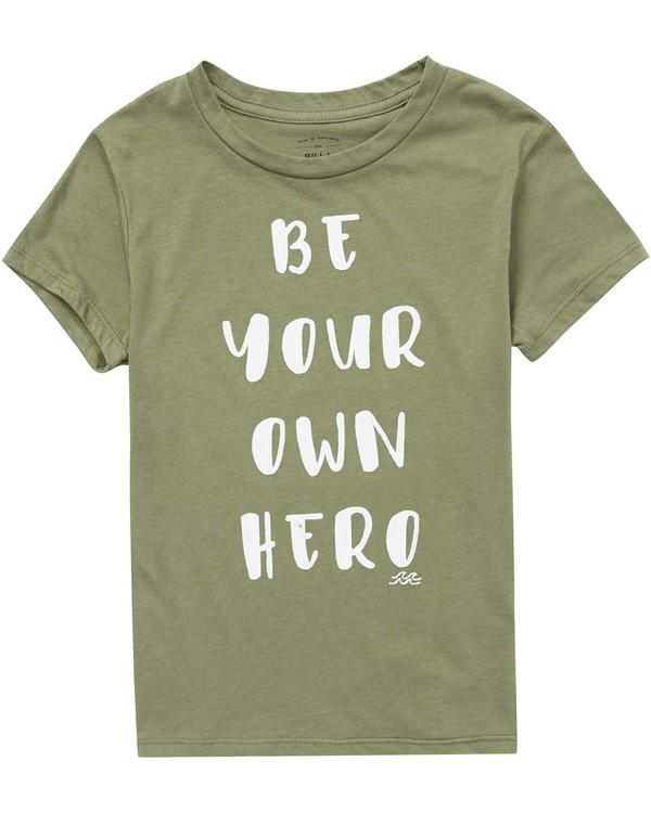 0 Girls' Be A Hero Tee Green G484QBBE Billabong
