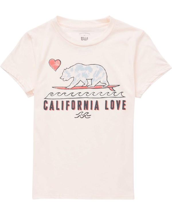 0 Girls' Cali Love Waves Tee Purple G484QBCA Billabong