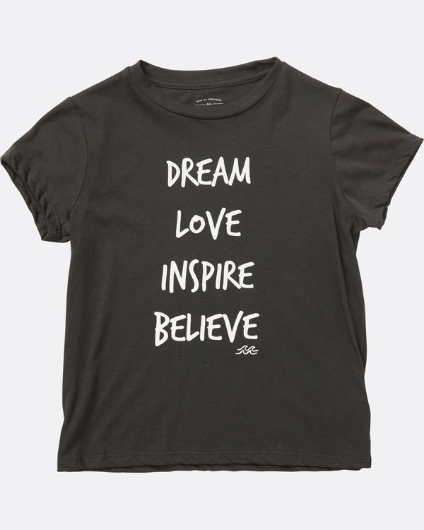 0 Girls' Inspiring Words Tee Black G484SBIN Billabong