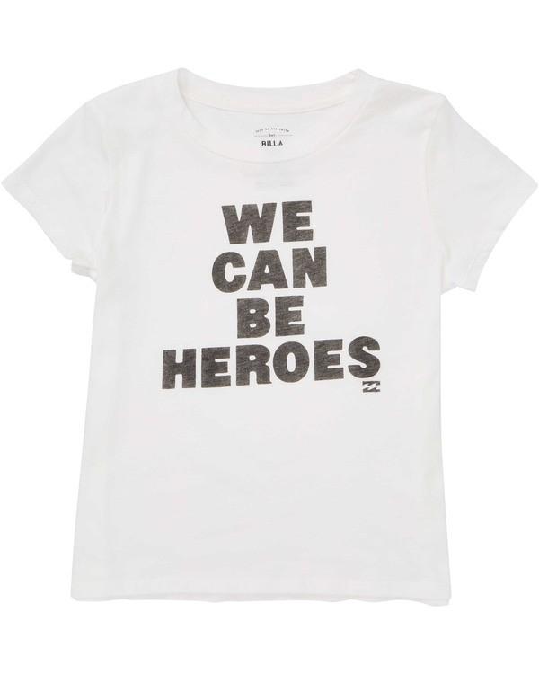 0 Girls' Be A Hero Tee White G484TBBE Billabong