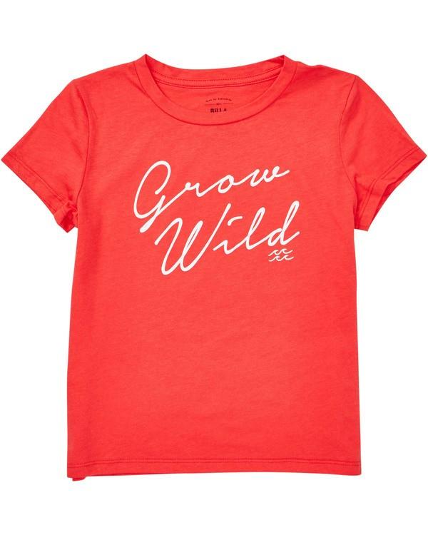 0 Girls' Grow Wild Tee Red G484TBGR Billabong