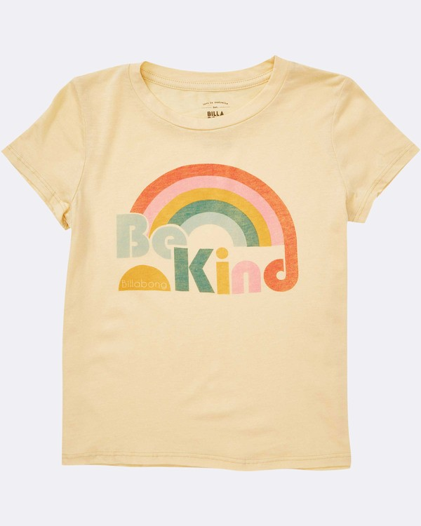 0 Girls' Kind Rainbow Tee Yellow G484TBKI Billabong