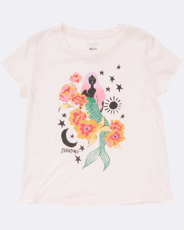 0 Girls' Mermaid Power Tee Pink G484TBME Billabong