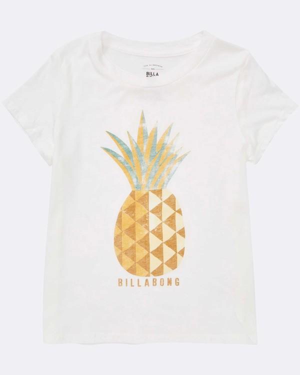 0 Girls' Sunny Pineapple Tee White G484TBSU Billabong