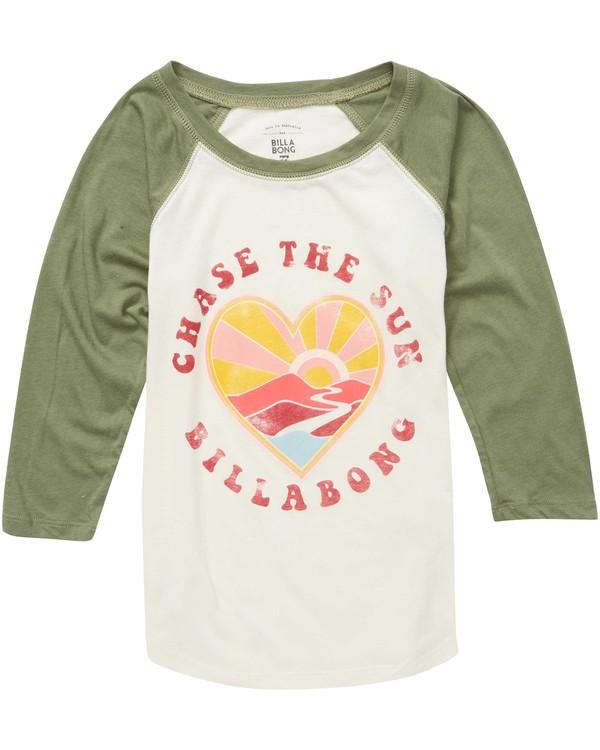 0 Girls' Chase The Sun Raglan Tee  G486QBCH Billabong