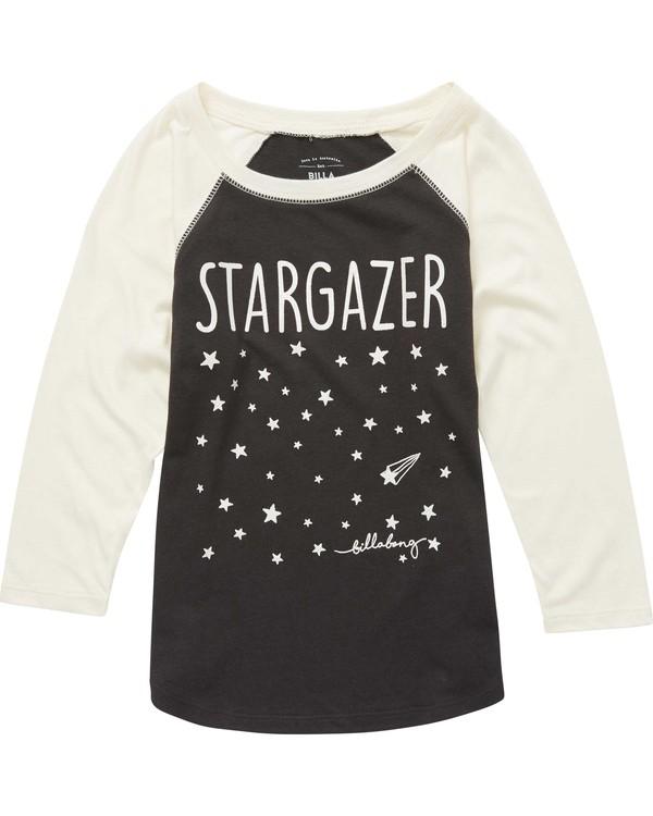 0 Girls' Stargazer Raglan Tee Beige G486QBST Billabong