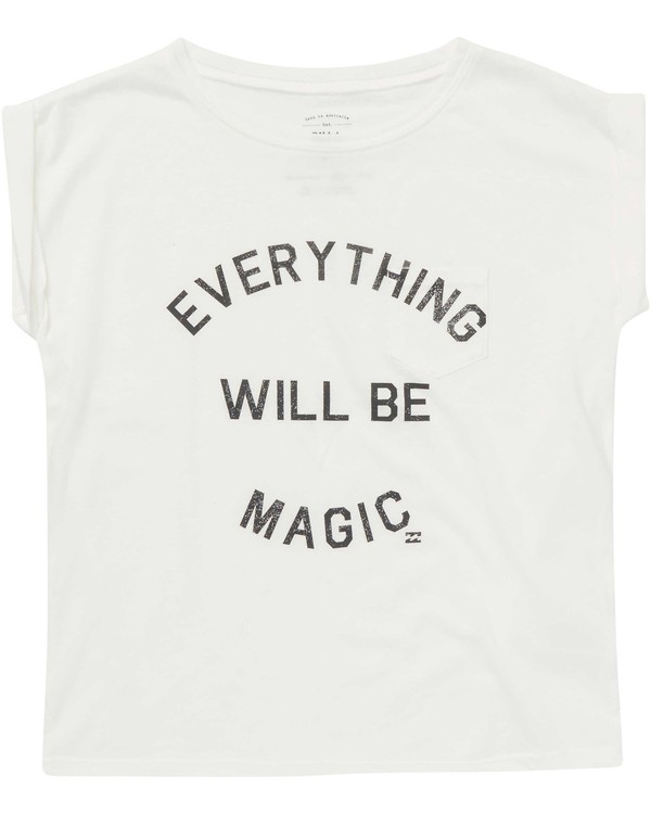 0 Girls' Be Magic Tee White G491NBBE Billabong