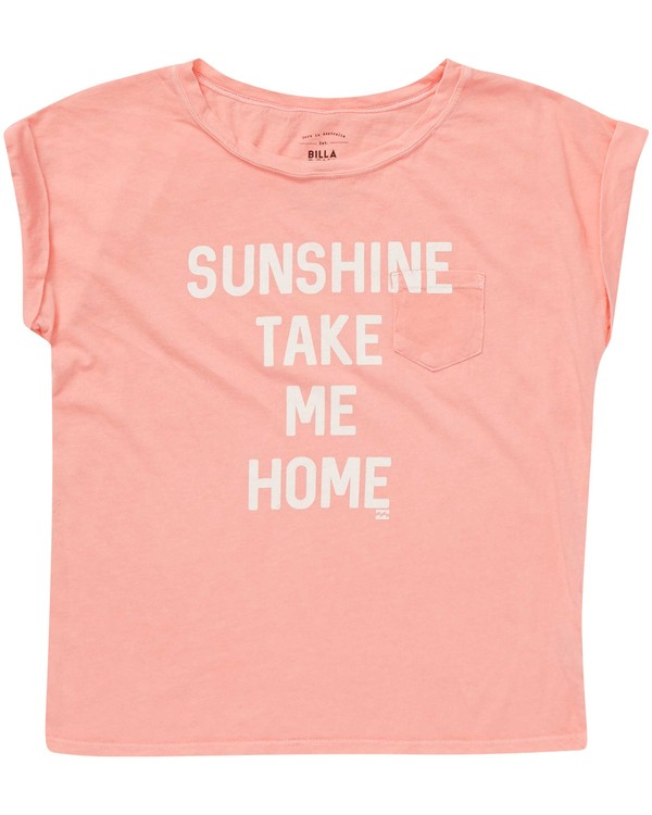 0 Girls' Take Me Home Tee Pink G491NBTA Billabong