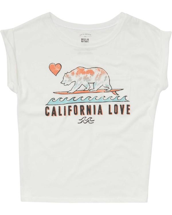 0 Girls' Cali Love Waves Tee Beige G491PBCA Billabong