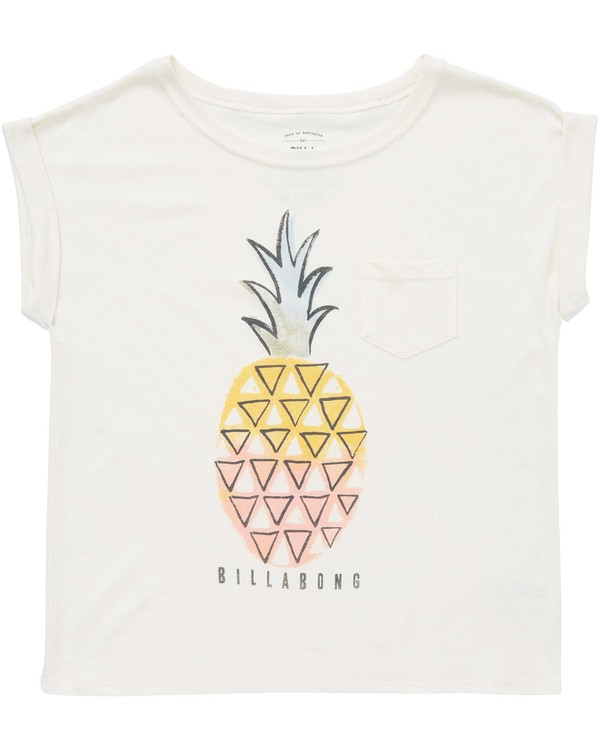 0 Girls' Painterly Pineapple Tee Beige G491QBPA Billabong