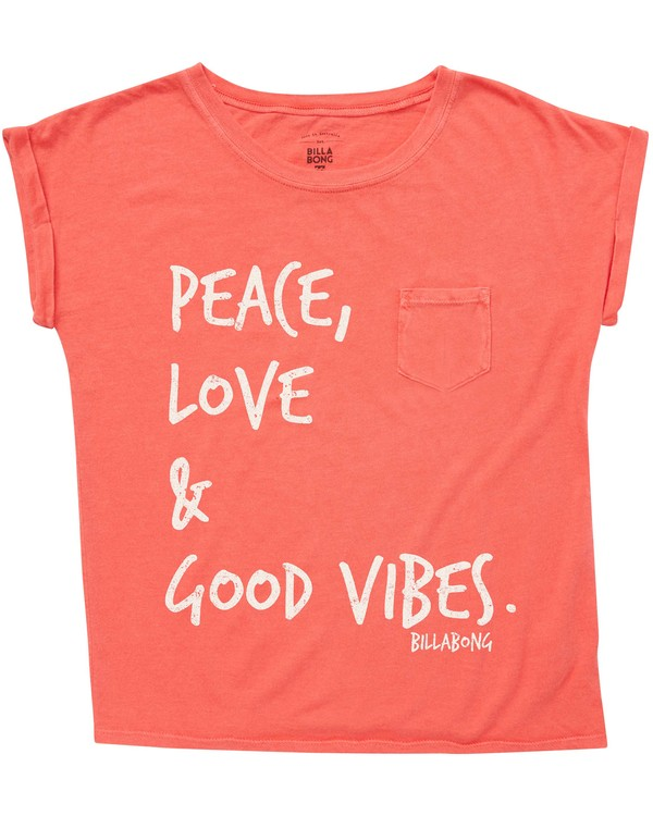 0 Girls' Peace & Love Tee  G491QBPE Billabong