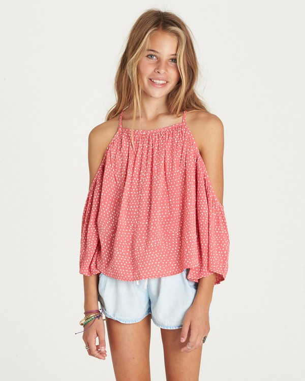 0 Girls' Forever Fun Top Pink G502LFOR Billabong