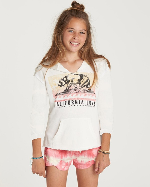 0 Girls' Days Off Pullover Hoodie Beige G601NBDA Billabong