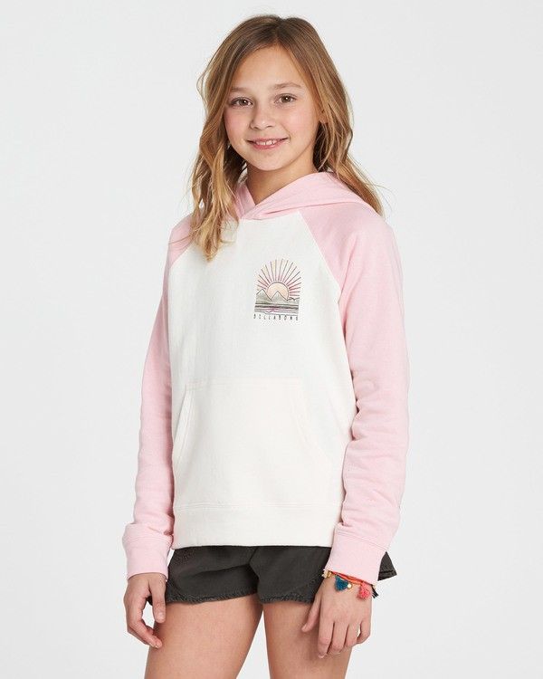 0 Girls' Block Party Hooded Fleece Pink G602SBBL Billabong