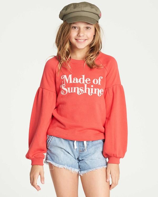 0 Girls' Full Bloom Sweatshirt Red G602TBFU Billabong