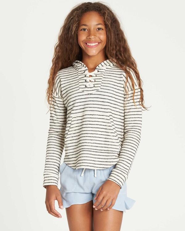 0 Girls' Side To Side Hooded Sweatshirt White G603TBSI Billabong