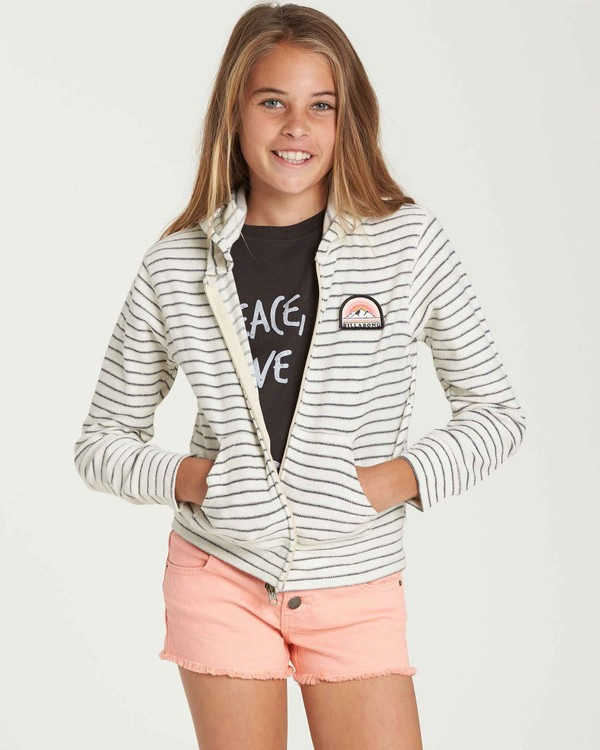 0 Girls' Always It Zip Up Hoodie Beige G605QBAL Billabong