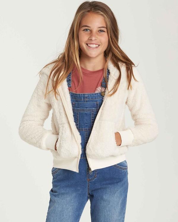 0 Girls' Cozy Town Fleece Beige G606QBCO Billabong